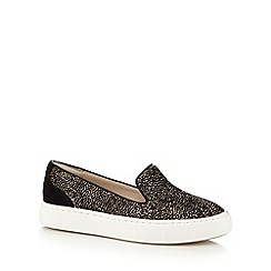 Clarks - Brown 'Coll Island' flat slip on shoes