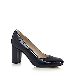 Clarks - Navy 'Gabriel Mist' leather patent high heeled shoes