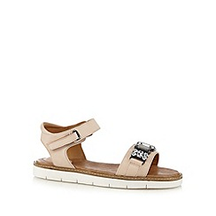 Clarks - Natural 'Lydie Joelle' jewel embellished leather sandals