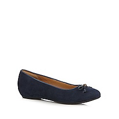 Clarks - Navy 'Alitay Giana' suede slip on shoes