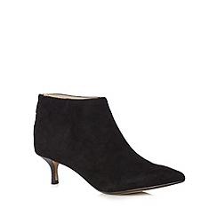 Clarks - Black 'Aquifer Diva' suede mid heeled ankle boots