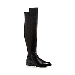 Clarks - Black 'Bizzy' leather knee-high boots