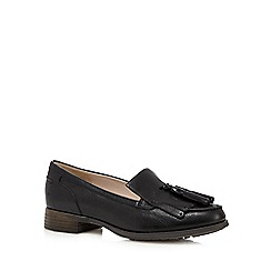 Clarks - Black 'Busby Folly' leather low heeled loafers