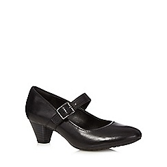 Clarks - Black 'Denny Date' leather mid court shoes