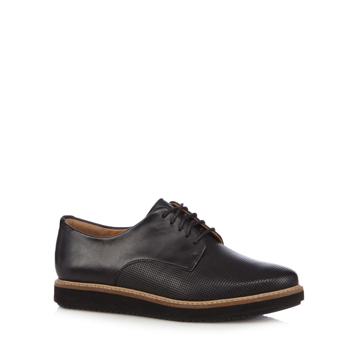 Black sandals debenhams - Clarks Black Leather Glick Darby Brogues