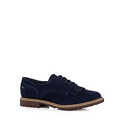 Clarks - Navy 'Griffin Mabel' suede lace up loafer shoes