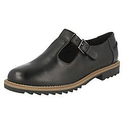 Clarks - Black 'Griffin Monty' patent shoes