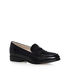 Clarks - Black 'Hotel Secret' loafer low heel leather shoe