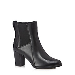 Clarks - Black 'Kadri Liana' leather ankle boots