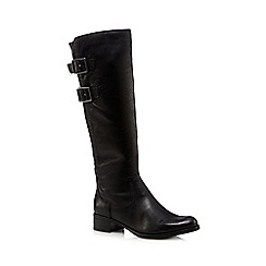 Clarks - Black Clarks 'Likeable Me' leather knee high boots