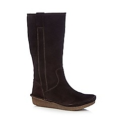Clarks - Dark brown 'Lima Rhapsody' calf boots