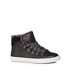 Clarks - Black 'Maribel Glove' high top trainers
