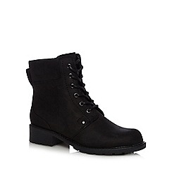 Clarks - Black 'Orinoco Spice' leather lace-up ankle boots