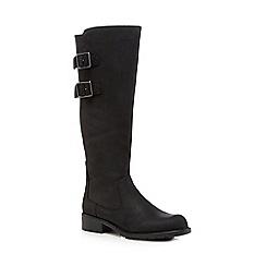 Clarks - Black 'Orinoco Tango' knee length boots