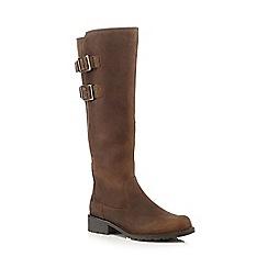 Clarks - Khaki 'Orinoco Tango' knee length boots