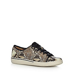 Clarks - Natural snakeskin trainers