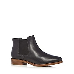 Clarks - Black 'Taylor Shine' leather Chelsea boots