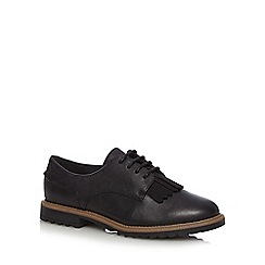 Clarks - Black 'Griffin Mabel' leather lace up shoes