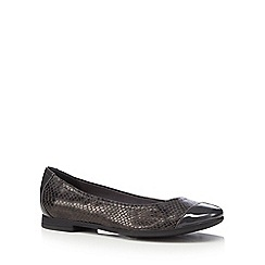 Clarks - Grey 'Atomic Haze' flat shoes