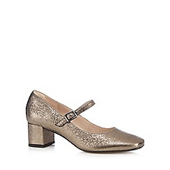 Clarks - Grey 'Chinaberry Pop' Mary Jane shoes