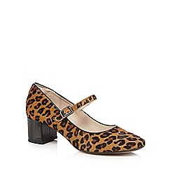 Clarks - Brown leopard print 'Chinaberry Pop' Mary Janes