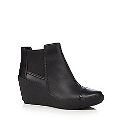 Clarks - Black Nice Music wedge boots