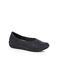 Clarks - Navy slip on 'Sillian Intro' shoes