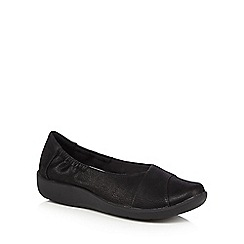 Clarks - Black 'Sillian' slip on shoes