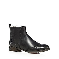 Clarks - Black 'Busby GraceÓ leather blend Chelsea boots