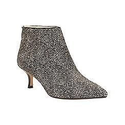 Clarks - Black and white 'aquifer diva' kitten heeled ankle boot