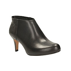 Clarks - Black combi 'arista flirt' heeled ankle boot