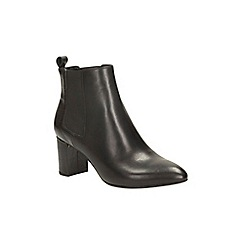 Clarks - Black combi leather blissful day heeled chelsea boot