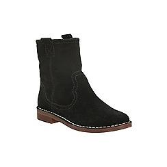 Clarks - Black suede 'cabaret rock' pull on ankle boot