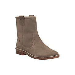 Clarks - Taupe suede 'cabaret rock' pull on ankle boot