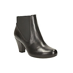 Clarks - Black leather 'coolest babe' mid heel chelsea boot