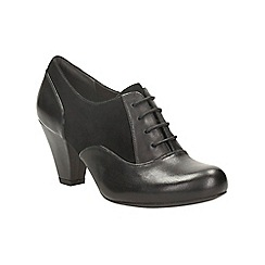 Clarks - Black leather coolest chick heeled brogue