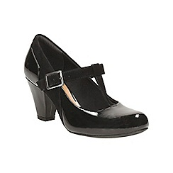Clarks - Black combination coolest lass t-bar shoe