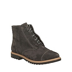 Clarks - Dark grey suede griffin mae lace up ankle boot