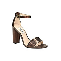 Clarks - Bronze metallic cutain secret heeled ankle strap sandal
