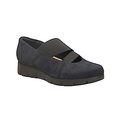 Clarks - Navy suede daelyn villa elasticated slip on shoe
