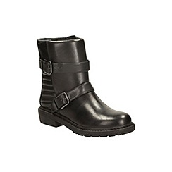 Clarks - Black leather 'danielle mist' casual biker boots