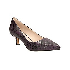 Clarks - Purple aquifer soda kitten heeled court shoe