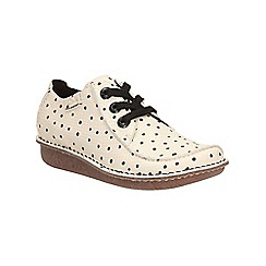 Clarks - Black and white funny dream lace up shoe