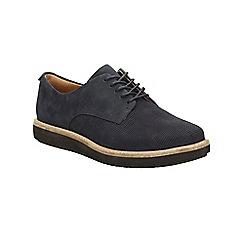 Clarks - Navy nubuck glick darby lace up platfoem shoe