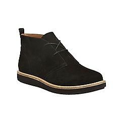 Clarks - Black nubuck glick willa lace up boot