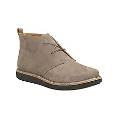 Clarks - Taupe nubuck glick willa lace up boot