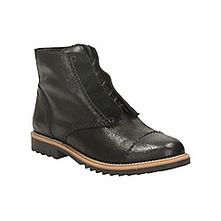 Clarks - Black leather griffin mae lace up ankle boot