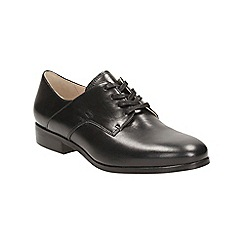 Clarks - Black leather hotel dream brogue