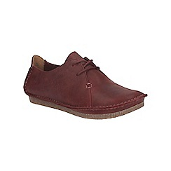 Clarks - Wine leather janey mae lace up shoe