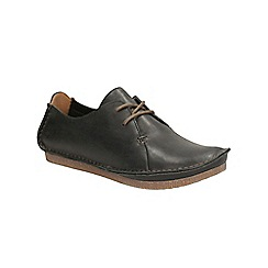 Clarks - Black leather janey mae lace up shoe